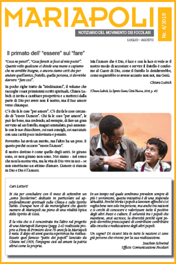 Notiziario Mariapoli  4/2019