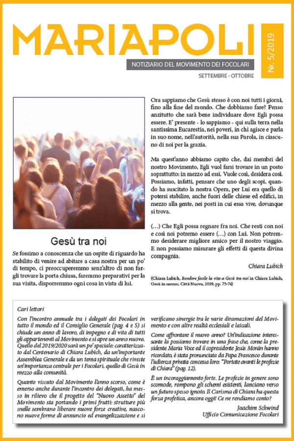 Notiziario Mariapoli  5/2019