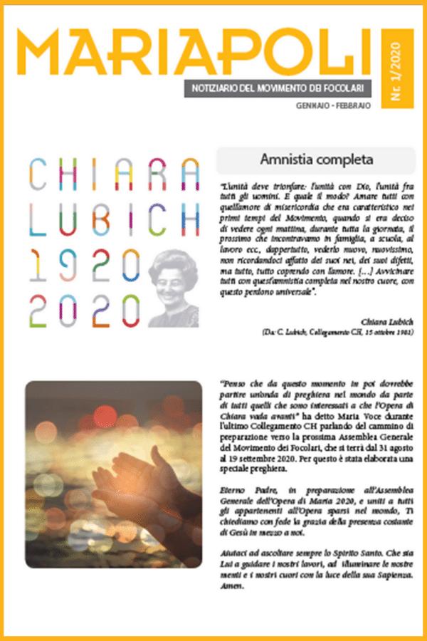 Notiziario Mariapoli 1/2020