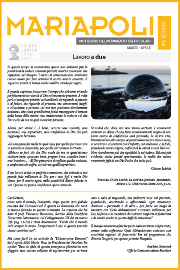Notiziario Mariapoli 2/ 2020