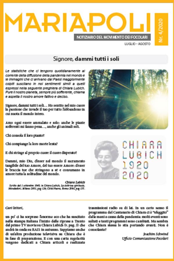 Notiziario Mariapoli 4 - 2020
