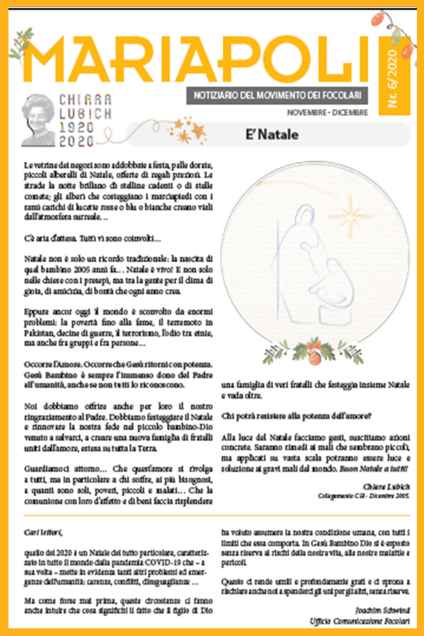 Noticiário-Mariápolis 6 – 2020